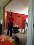 Painting my accent wall Stiletto Love